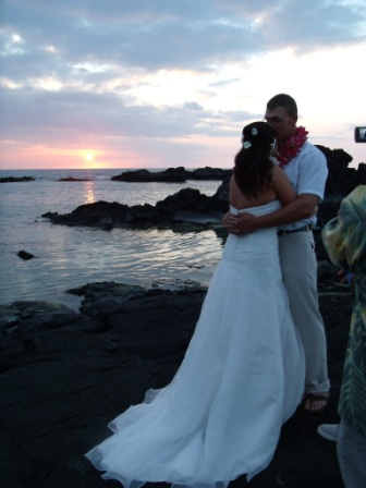 Big Island of Hawaii Sunset Wedding